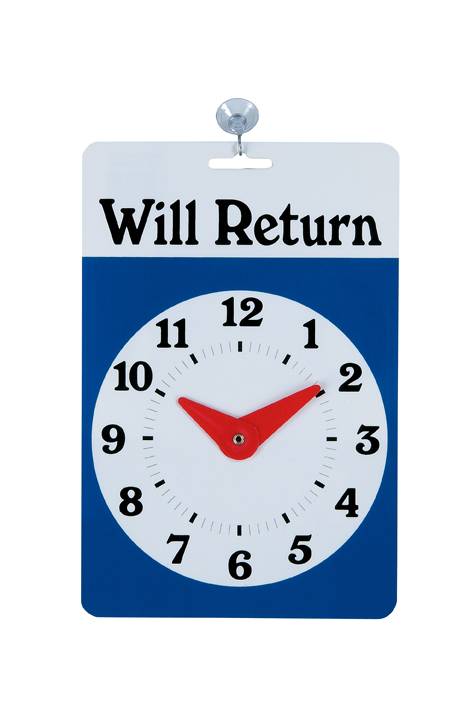 Will Return clock-sign