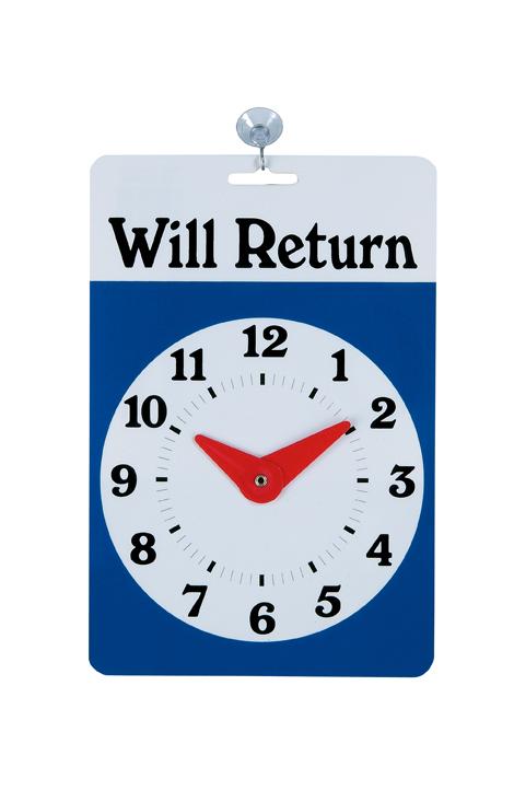 Will Return clock-sign