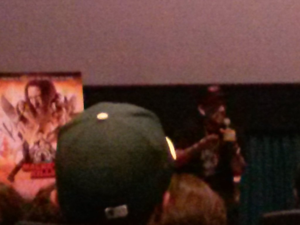 The Q&A. Chuy Gomez was also in the audience, but I think I'm the only one who geeked out seeing him.