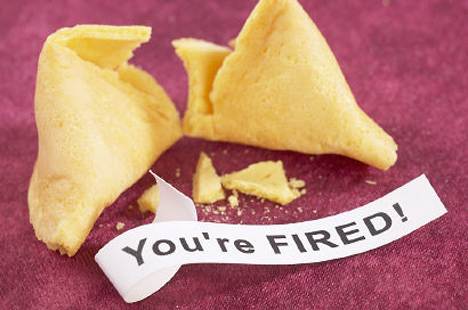 You're Fired fortune cookie copy