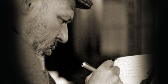 August Wilson writing CAPTION: via The Goodman Theatre