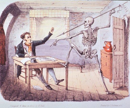 """""""Death Found an Author Writing His Life"""" (1827) by E. Hull"""