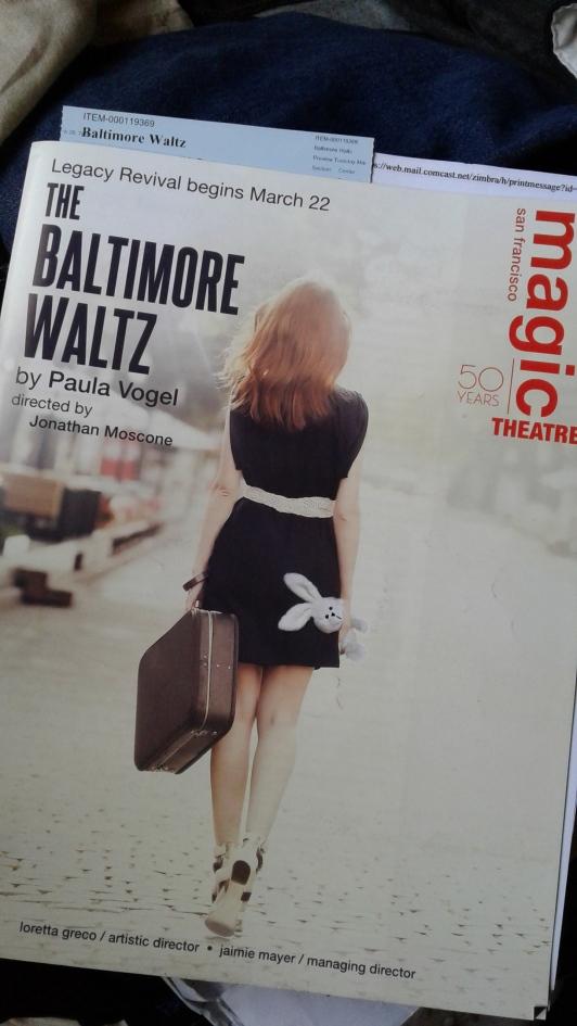 Baltimore Waltz programme