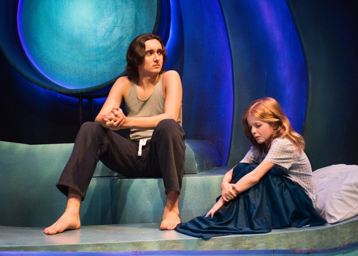Theo (Nick Moore) and Morgan (Mattea Fountain). Photo by Lois Tema