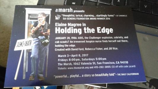 Holding the Edge postcard