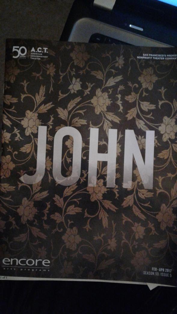 John (ACT 2017) programme