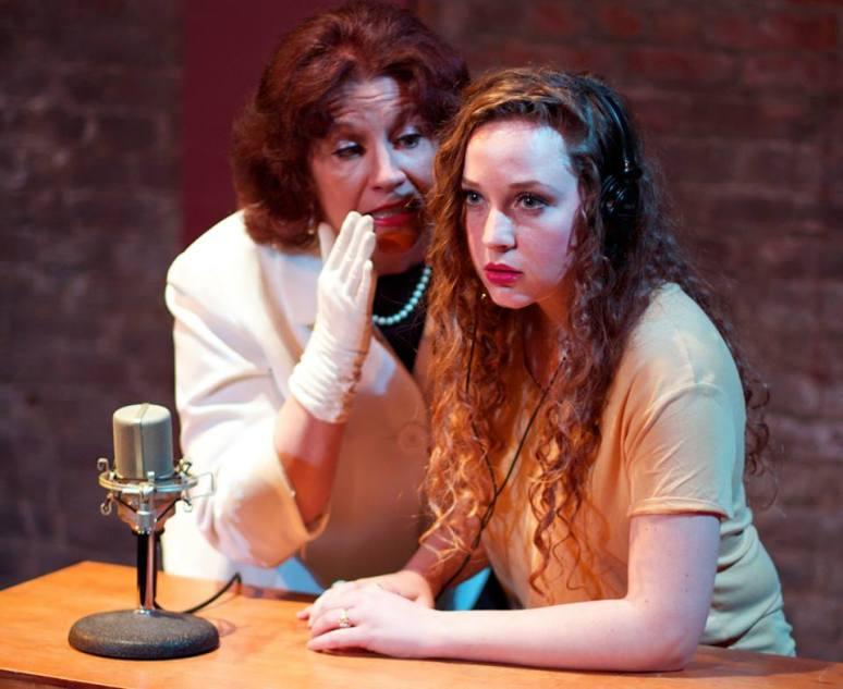 Marie O'Donnell and Sarah Brazier as Kilgallen/Jones, respectively. Photo by Stephanie Renee Wozniak