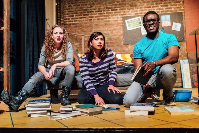 Sarah Brazier, Lauren Garcia, and George Coker in Kilgallen/Jones. Photo by James Jordan