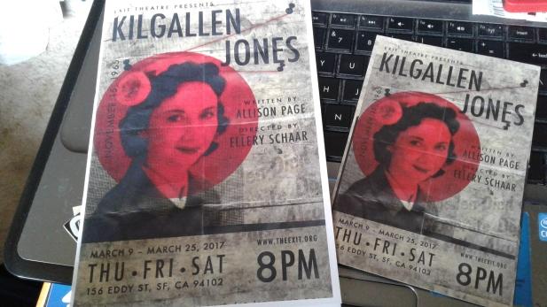 Kilgallen - Jones programme and postcard