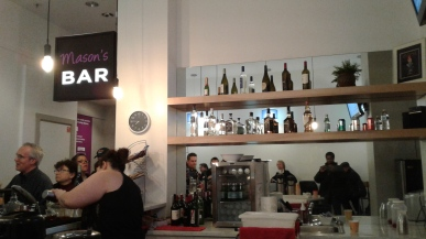 Bar in NCTC's new lobby. Photo by me