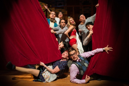 """The cast of """"Noises Off!"""". Photo by Jessica Palopoli"""