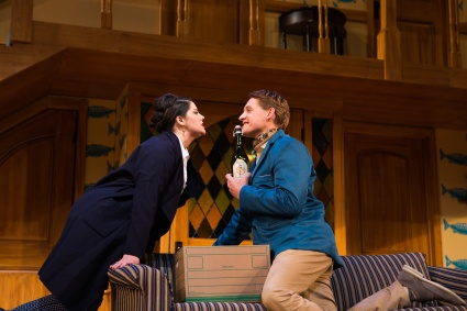Belinda as Flavia (Nanci Zoppi) and Freddie as Roger (Craig Marker). Photo by Jessica Palopoli