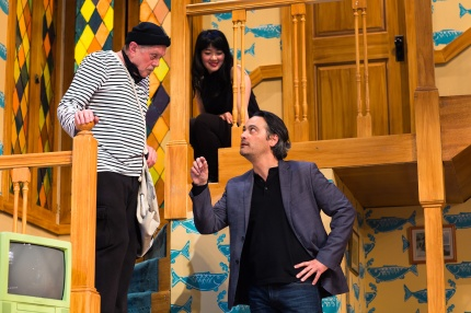 Selsdon (Richard Louis James), Poppy (Monica Ho), and Lloyd (Johnny Moreno). Photo by Jessica Palopoli