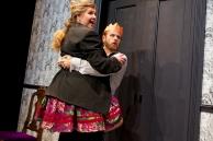 Nora (Jessma Evans) and Torvald (Kevin Kemp). Photo by Pak Han.