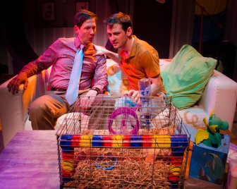 Mike (Ryan Hayes) and Dean (Sam Bertken). Photo by Clive Walker.