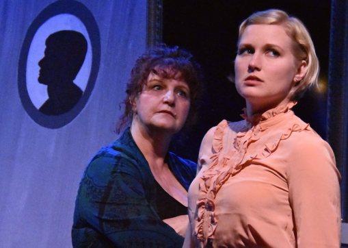 Mrs. Pascal (Shelley Lynn Johnson) and Lesley (Juliana Lustenader). Photo by Jay Yamada