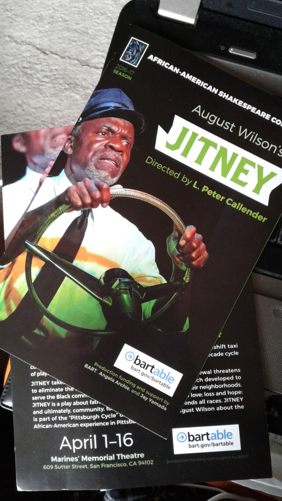 Jitney at Af-Am Shakes - programme