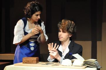 Gerda (Marisa Darabi) and Kai (Max Seijas). Photo by Alandra Hileman