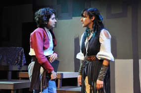 Gerda (Marisa Darabi) and Liv (Kitty Torres). Photo by Alandra Hileman