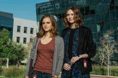 Mae Holland (Emma Watson) and Annie Allerton (Karen Gillan). Frank Masi for STX Entertainment