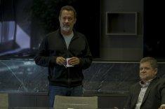 Eamon Bailey (Tom Hanks) and Tom Stenton (Patton Oswalt). Frank Masi for STX Entertainment