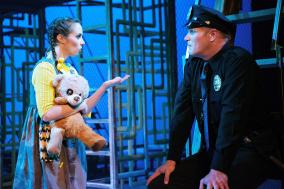 Little Sally (Brittney Monroe) and Officer Lockstock (Matt Davis). Photo by Ben Krantz