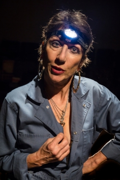 Edwina the exterminator (Jan Zvaifler). Photo by Jim Norrena