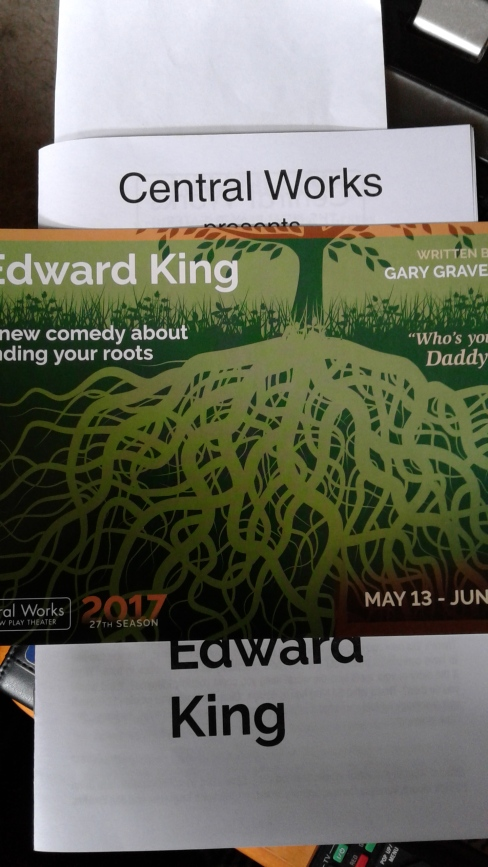 Edward King at Central Works programme
