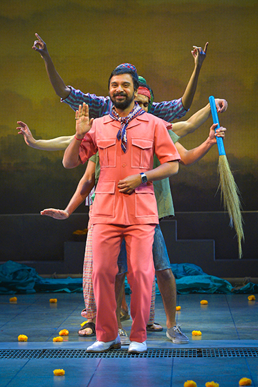 PK Dubey (Namit Das). Photo by Kevin Berne for Berkeley Rep.