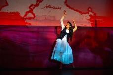 Krystal Kiran as ensemble dancer. Photo by Kevin Berne for Berkeley Rep.