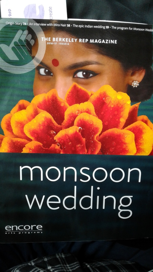 Monsoon Wedding at Berkeley Rep programme