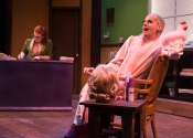 Dr. Bolinger (Melissa O'Keefe) and Brother-Boy (Scott Cox). Photo by Lois Tema.