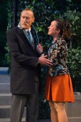 Duke Frederick (James Carpenter) and Celia (Maryssa Wanlass). Photo by Kevin Berne for Cal Shakes.