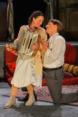 Celia (Maryssa Wanlass) and Oliver (Craig Marker). Photo by Kevin Berne for Cal Shakes.