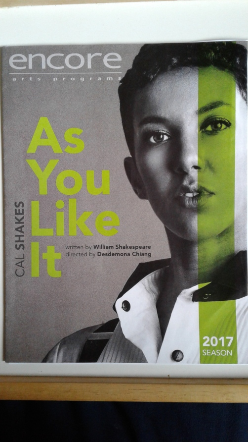 As You Like It at Cal Shakes programme