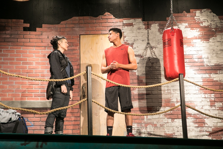 Merrill (Erin Mei-Ling Stuart) and Tray (Davied Morales). Photo by Cheshire Isaacs for Shotgun Players.