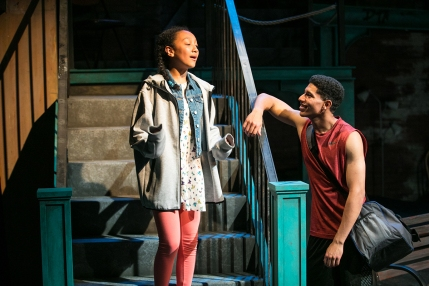 Devine (Mimia Ousilas) and Tray (Davied Morales). Photo by Cheshire Isaacs for Shotgun Players.