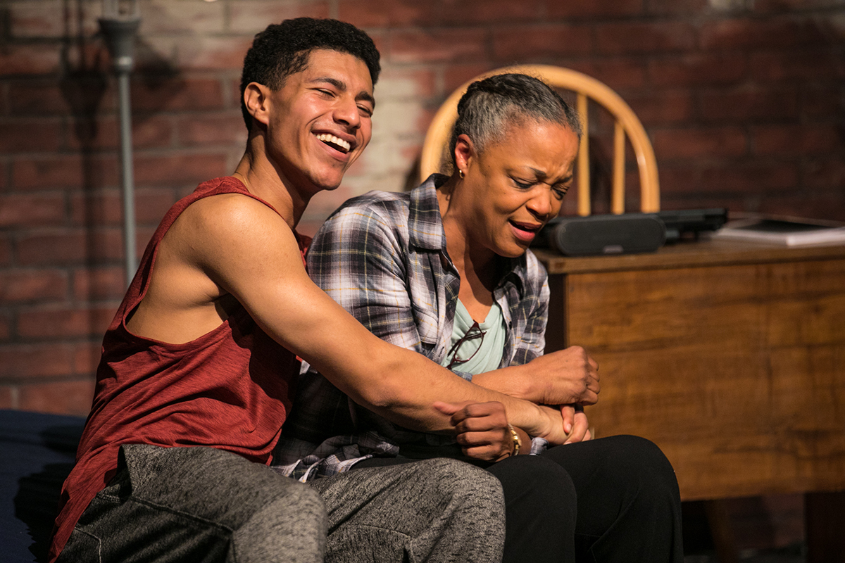 Tray (Davied Morales) and Lena (Cathleen Riddley). Photo by Cheshire Isaacs for Shotgun Players.