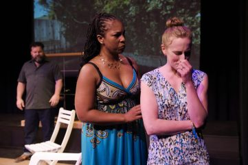 David (Steven Westdahl), Lily (Kimberly Ridgeway), Jen (Caitlin Evenson). Photo by Alessanra Mello.