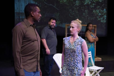 Craig (Daryl Anthony Harper), David (Steven Westdahl), Jen (Caitlin Evenson), and Lily (Kimberly Ridgeway). Photo by Alessanra Mello.
