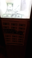 There are plenty of dollars INSIDE the theatre, too. Photo by Me.