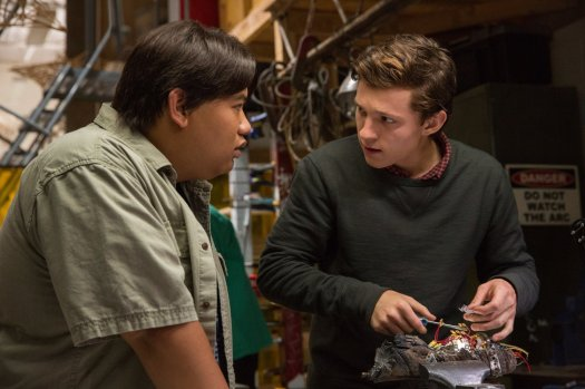Ned (Jacob Batalon) and Peter Parker (Tom Holland). Photo by Chuck Zlotnick for Marvel.
