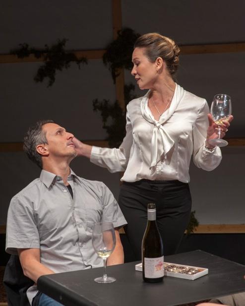 Ben (James Asher) and Samantha (Charisse Loriaux). Photo by Ken Levin.