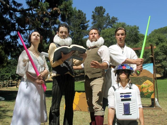 Princess Gwen (Marlene Yarosh), Meekins (Sam Bertken), Samuel Peaches (Casey Robbins), Guy, Thumper. Photo by Tim Guydish.