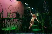 Tarzan (Adam Donovan) swings across the jungle. Photo by Ben Krantz Studio.