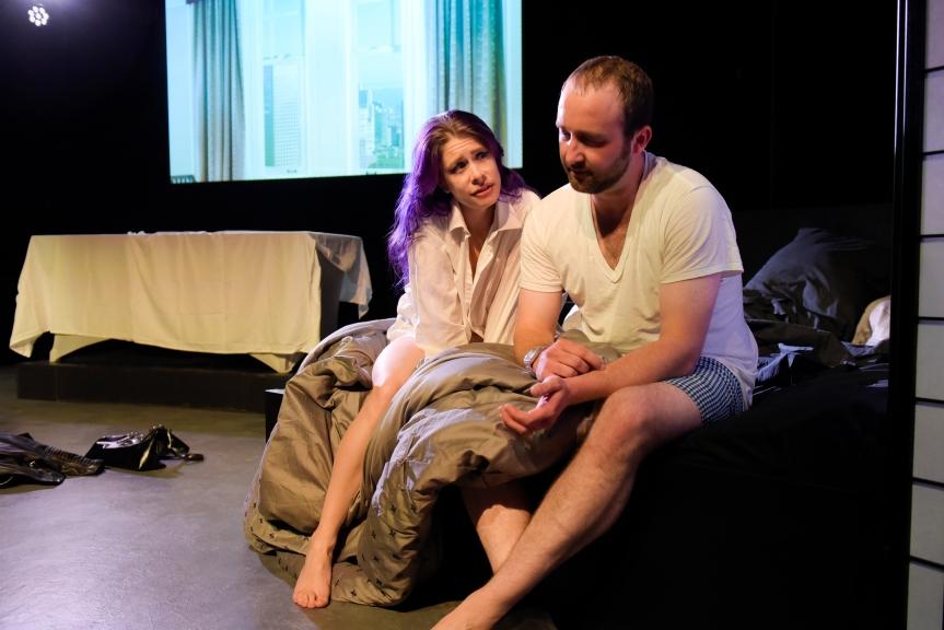 Kat (Trixxie Karr) and Jonas (Colin Johnson). Photo by Alessandra Mello/mellophoto.com