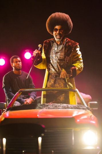 Ulysses (J. Alphonse Nicholson) and Superfly (Lamont Thompson). Photo by Kevin Berne.