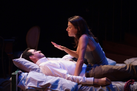 Josh Watson (Bradley Woolery) and Modern Eliza (Sarah Mitchell). Photo by Jessica Palopoli.