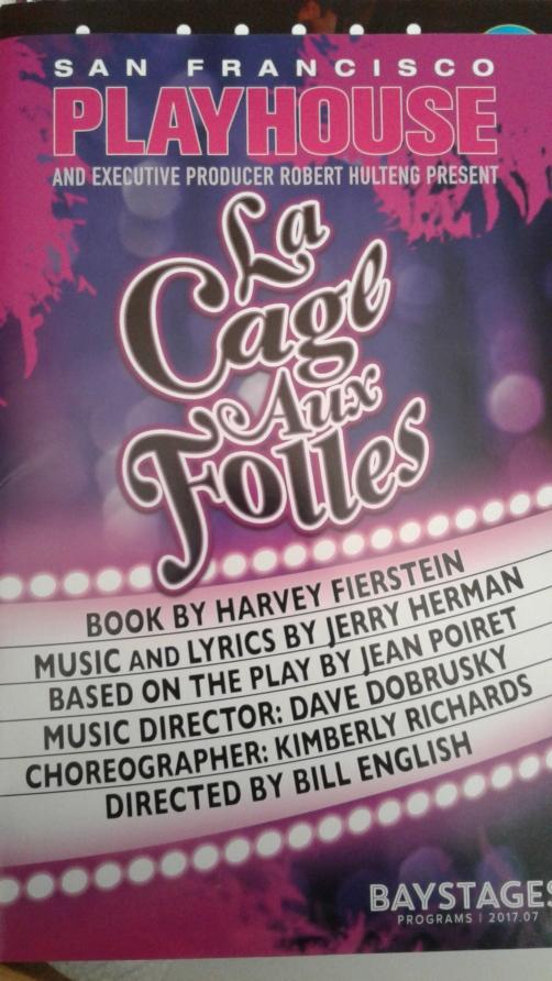 La Cage aux Folles at SF Playhouse programme