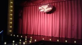 Pre-show; set by Jacquelyn Scott. Photo by Me.